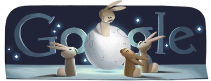 Google Doodle Moon Festival / Mid-Autumn Festival 2012
