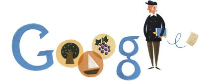 Google Doodle Odysseas Elitis' 101st Birthday