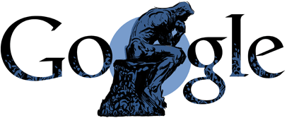 Google Doodle Auguste Rodin's 172nd Birthday