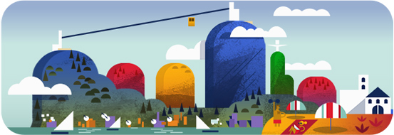 Google Doodle Sugarloaf Cable Car's 100th Anniversary