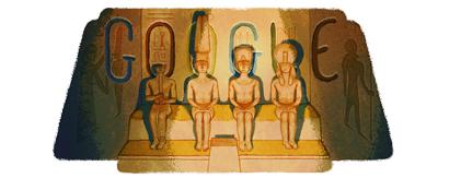 Google Doodle Abu Simbel