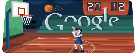 Google Doodle Londýn 2012: Basketbal