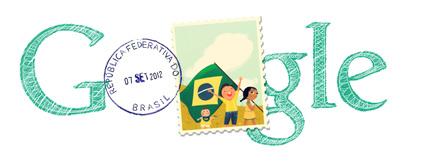 Google Doodle Brazil Independence Day 2012