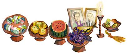 Google Doodle Chuseok 2012