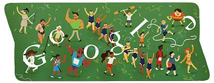 Google Doodle Londýn 2012: Závěrečný ceremoniál