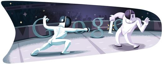 Google Doodle Londýn 2012: Šerm