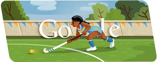 Google Doodle Londýn 2012: Pozemní hokej