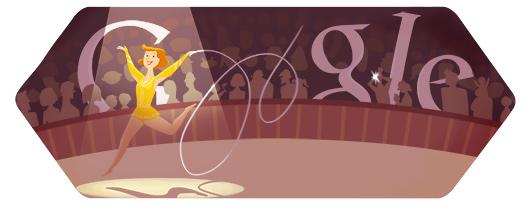 Google Doodle Londýn 2012: Moderní gymnastika