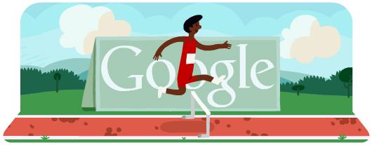 Google Doodle Londýn 2012: Běh přes překážky