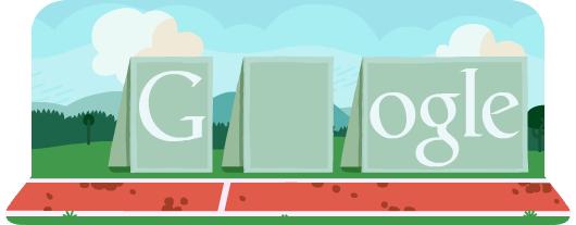 Новый «олимпийский» дудл Гугла — «Бег с барьерами»