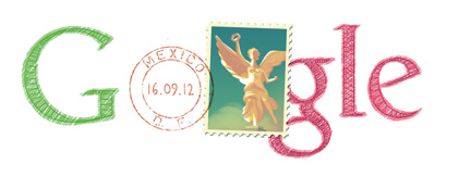 Google Doodle Mexico Independence Day 2012