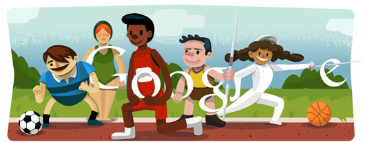 Google Doodle Londýn 2012: Zahajovací ceremoniál