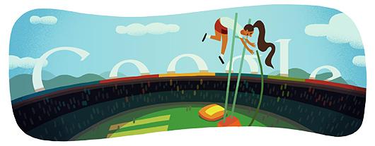 Google Doodle Londýn 2012: Skok o tyči