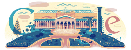 Google Doodle 100th Anniversary of the Pushkin Museum