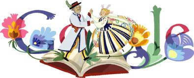 Google Doodle W?adys?aw Reymont's 145th Birthday