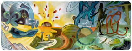 Google Doodle Roberto Matta's 101st Birthday