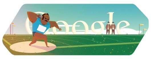 Google Doodle Londýn 2012: Vrh koulí