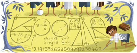 Ramanujan's Google Doodle