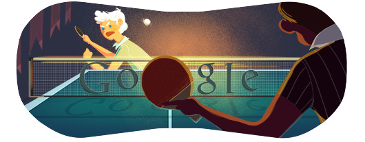Google Doodle Londýn 2012: Stolní tenis