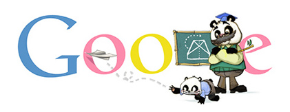 Google Doodle Teachers' Day 2012 (China)
