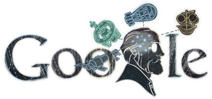 Google Doodle Konstantin Tsiolkovsky's 155th birthday