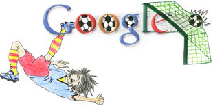 google doodle world cup south africa