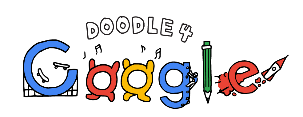 Your Doodle on the Google homepage