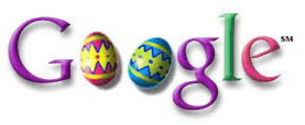 Happy Easter: On Easter weekend, Google displayed this logo with an applet created by Ken Perlin