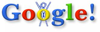 Google Logo with Burning Man