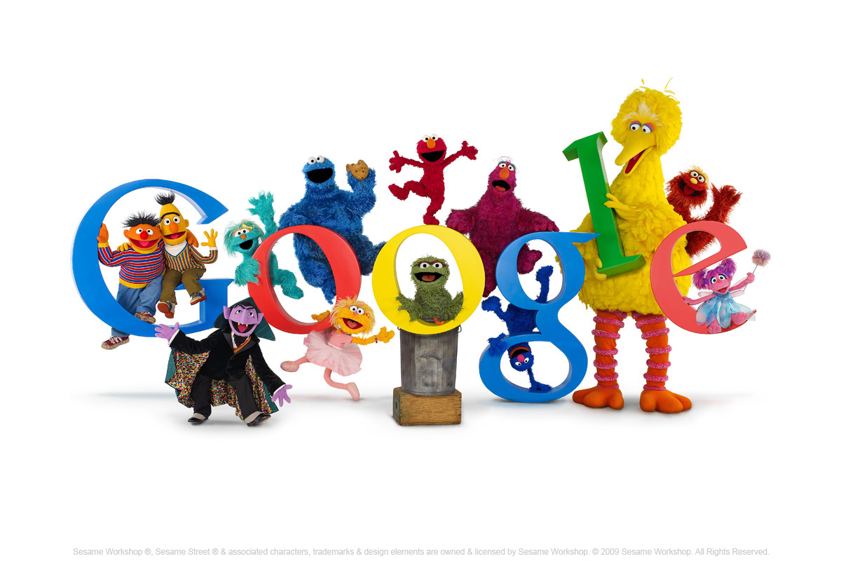 40th Anniversary of Sesame Street - Google Logos