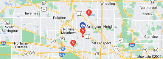 Map of citgo gas stations Arlington Heights, IL