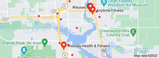 Map of wausau fitness