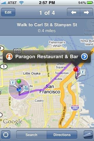 Google Maps Apple iPhone App
