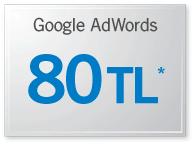 80 80 TL değerinde bedava adwords deneme kuponu