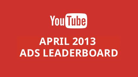 YouTube Ads Leaderboard April 2013