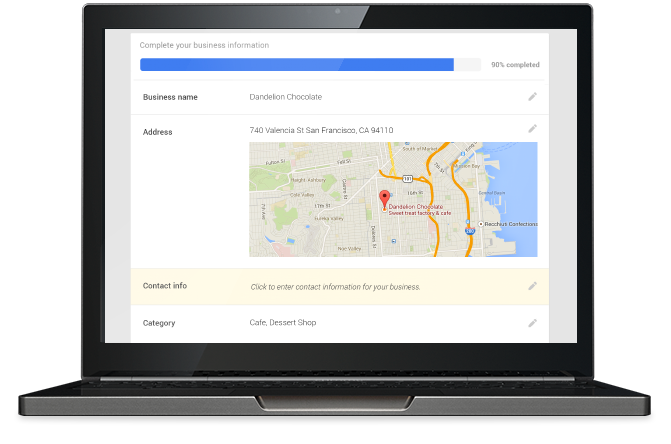Google my business you can edit your contact information business