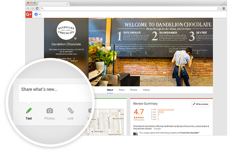 Interact with your small business customers online using Google My Business.