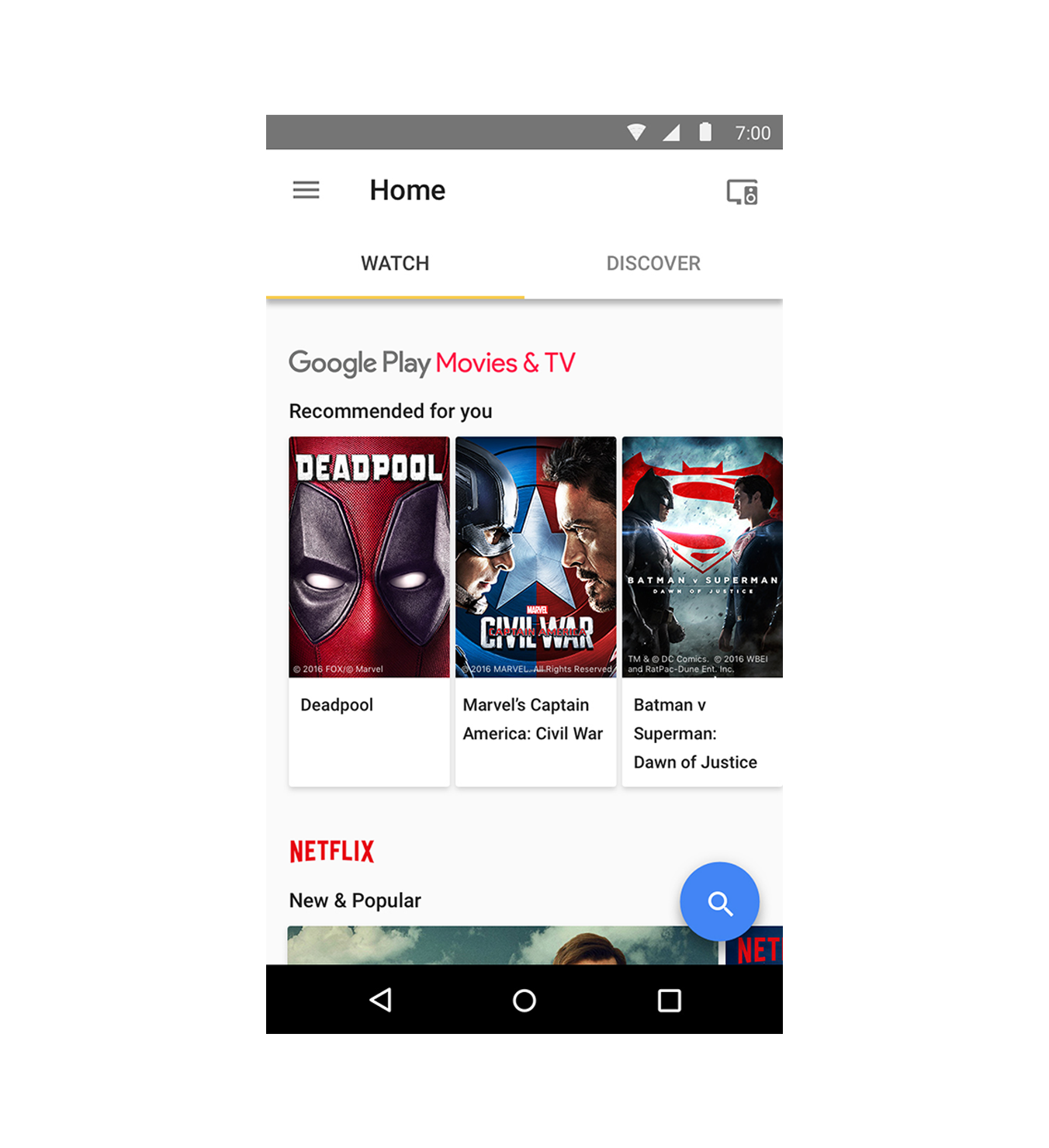 Chromecast built-in - Apps