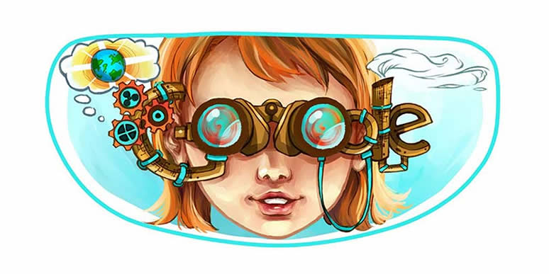 Scribble Google Drawing : Brighter world through binoculars