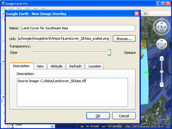 Importing Geographic Information Systems (GIS) data in Google