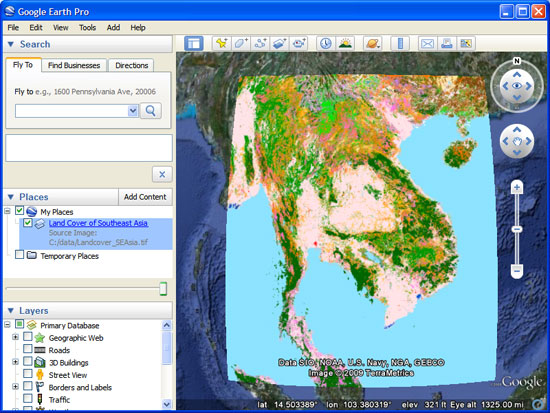 Importing Geographic Information Systems (GIS) data in Google Earth