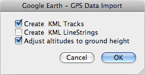 Importing Global Positioning Systems (GPS) data in Google
