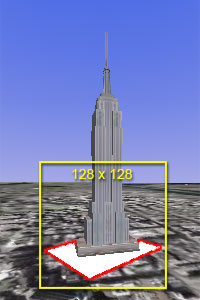 Screenshot - Empire State Building on a rectangle