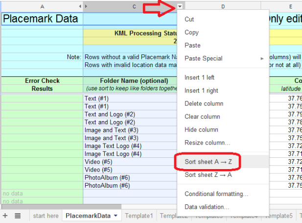 Mapping from a Google Spreadsheet – Google Earth Outreach