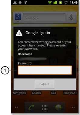 esempio di password specifica per le applicazioni in Android