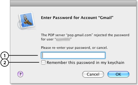 esempio di password specifica per le applicazioni in Mail