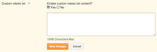 Custom robot.txt for Blogger