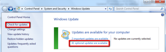 Windows Optional Update