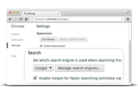 Step 2: Change your default search engine to Google