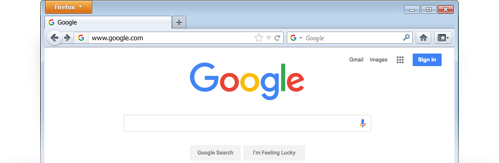 how to set google as default homepage in mozilla firefox
